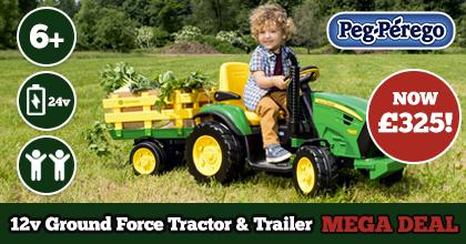 Peg Perego John Deere Ground Force 12v Tractor