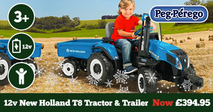 Peg Perego New Holland T8 Tractor and Trailer