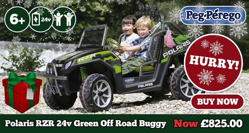 24v RZR Polaris Buggy Green